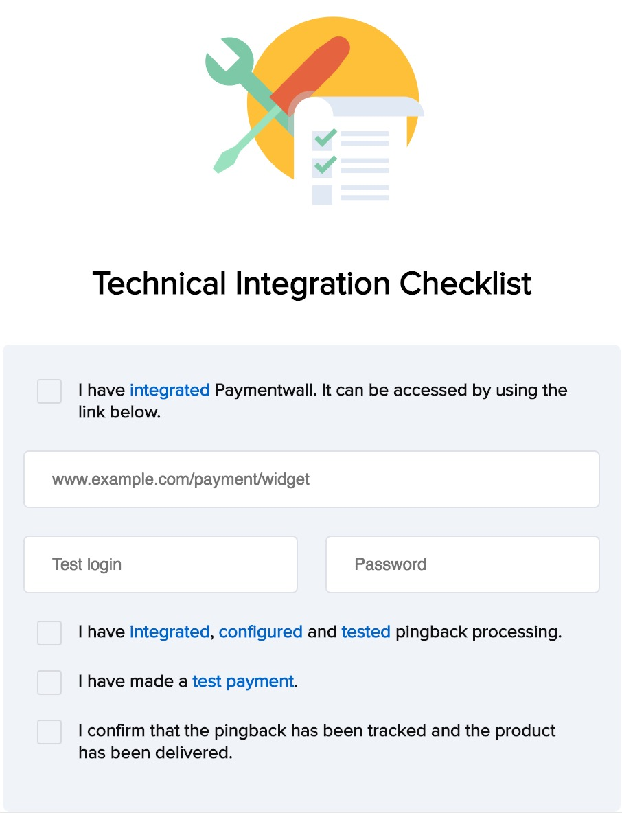 Review technical checklist
