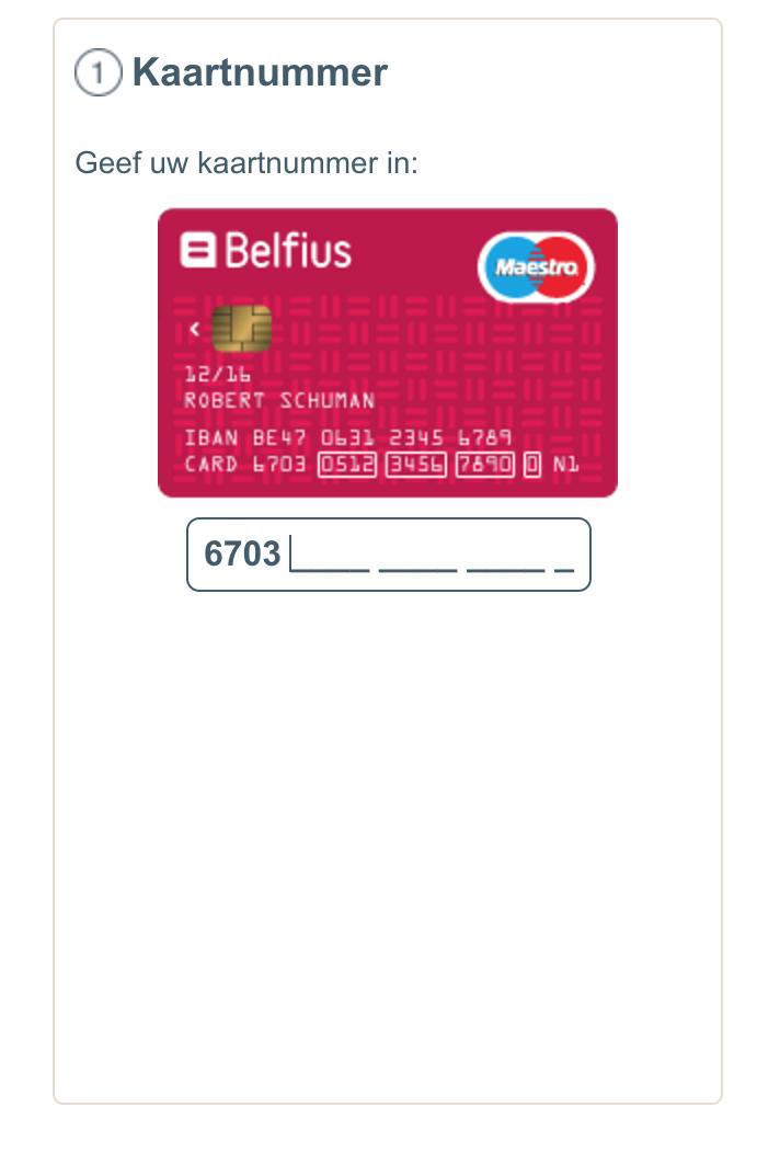 Belfius checkout
