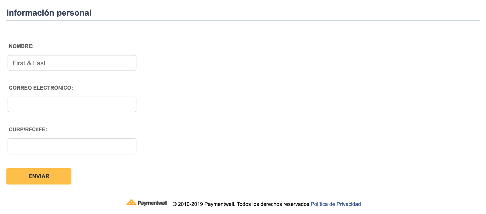 Payment Method - Bank Transfer Mexico