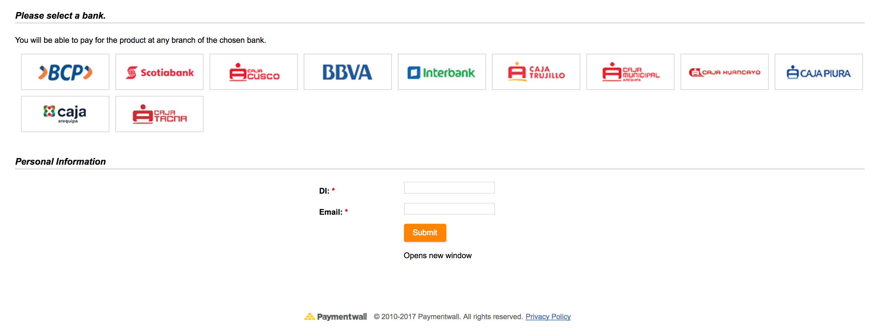 Bankt Transfer Peru preset