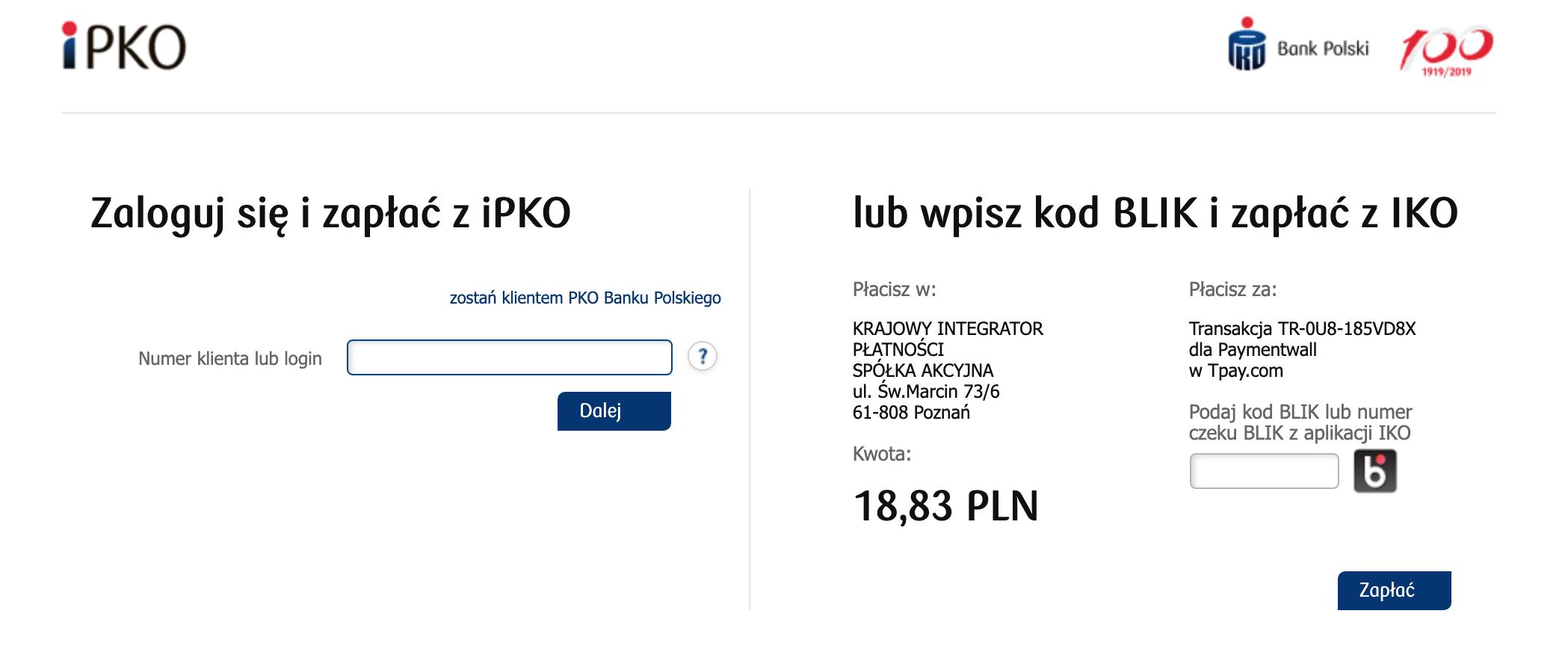 Bank Transfer Poland checkout