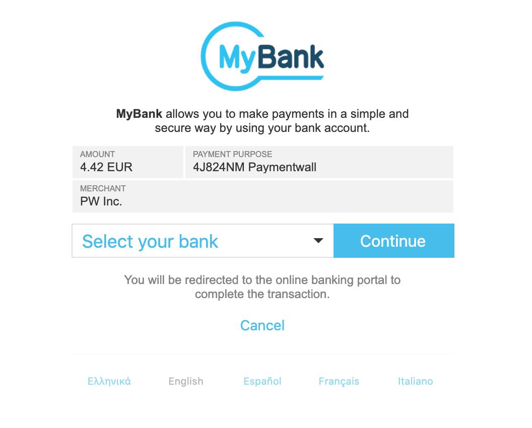 MyBank select
