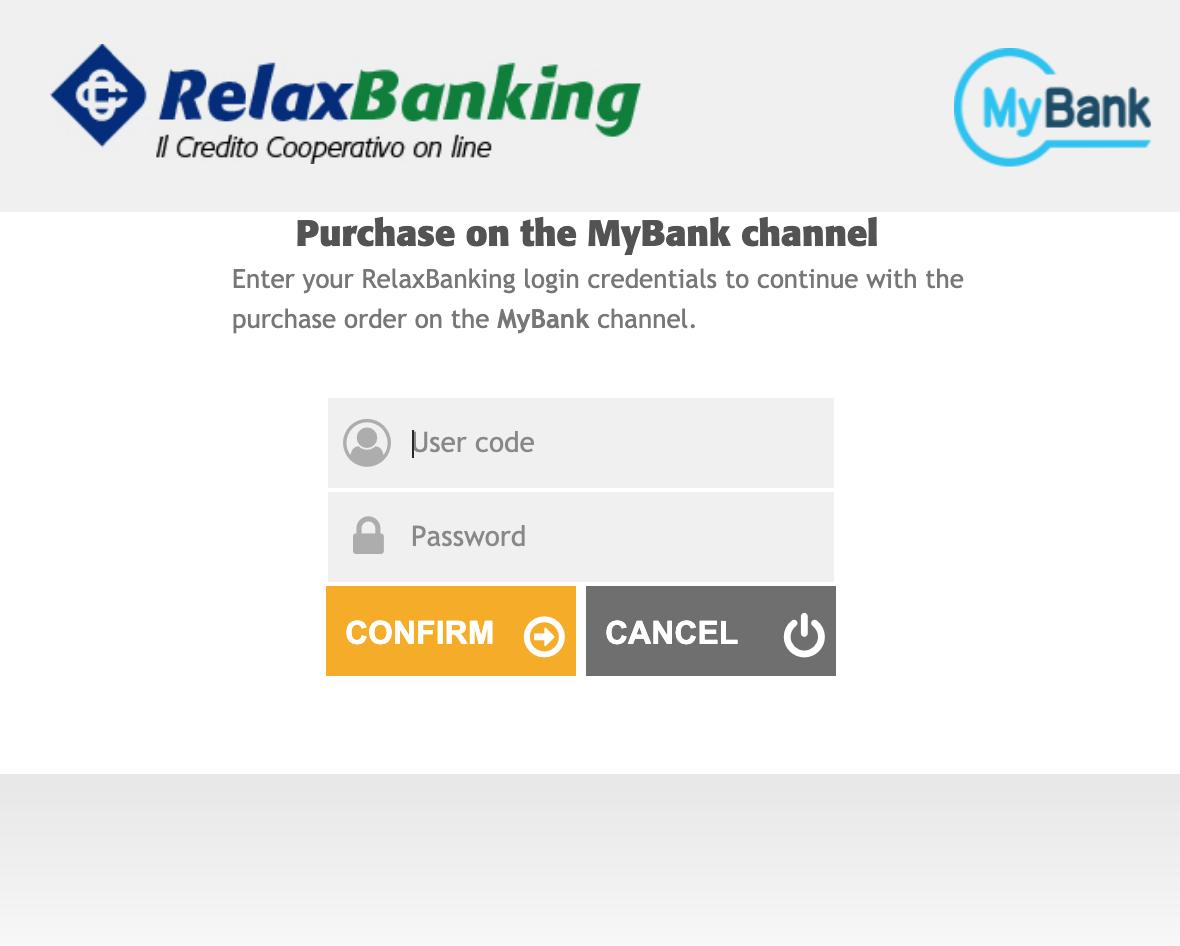MyBank checkout