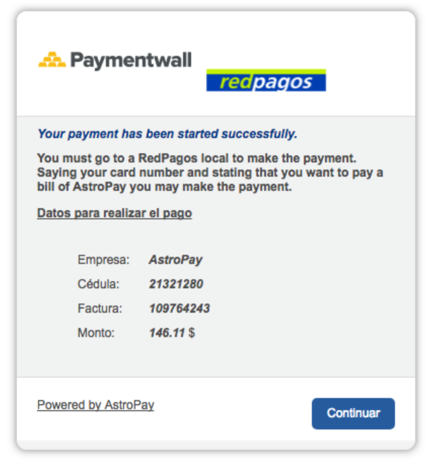 RedPagos invoice
