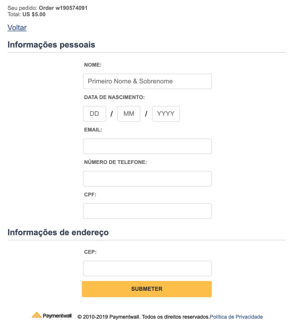 Bank Transfer Brazil fill