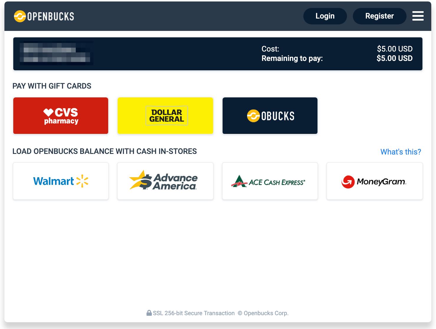 Openbucks select