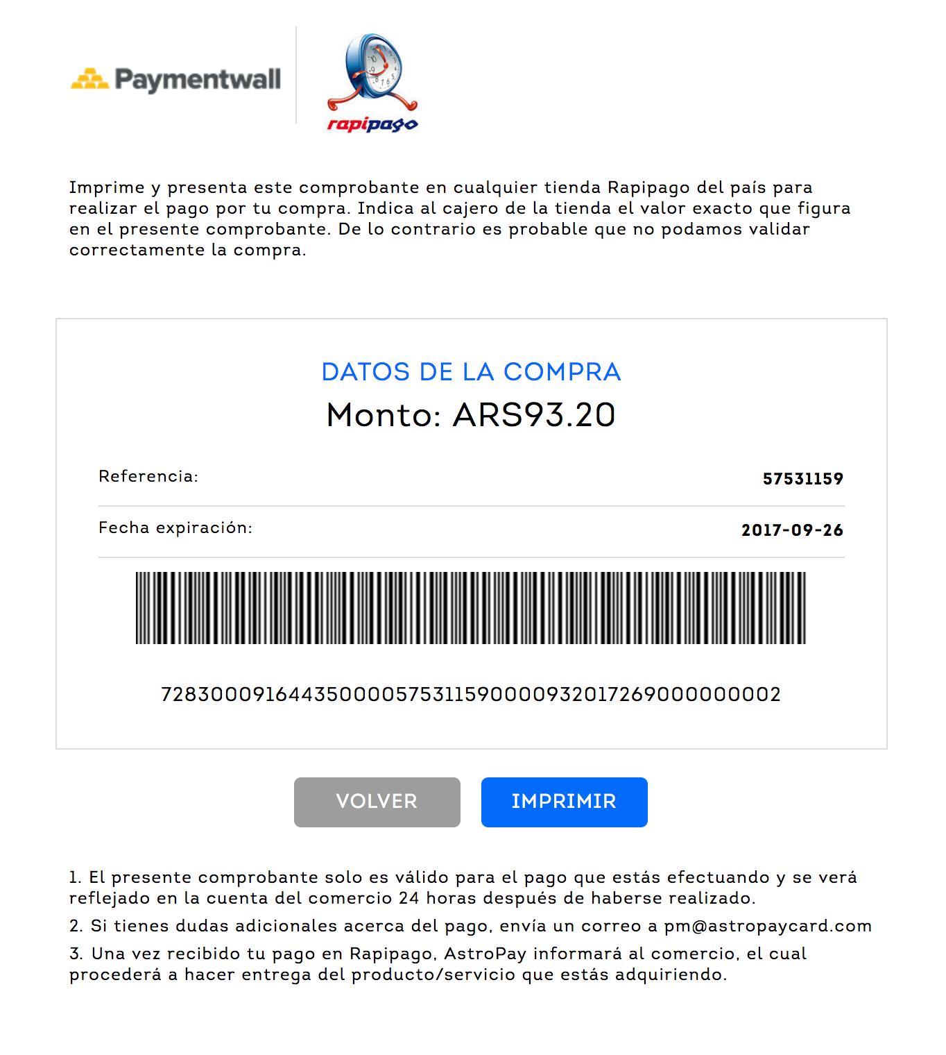 payment method rapipago