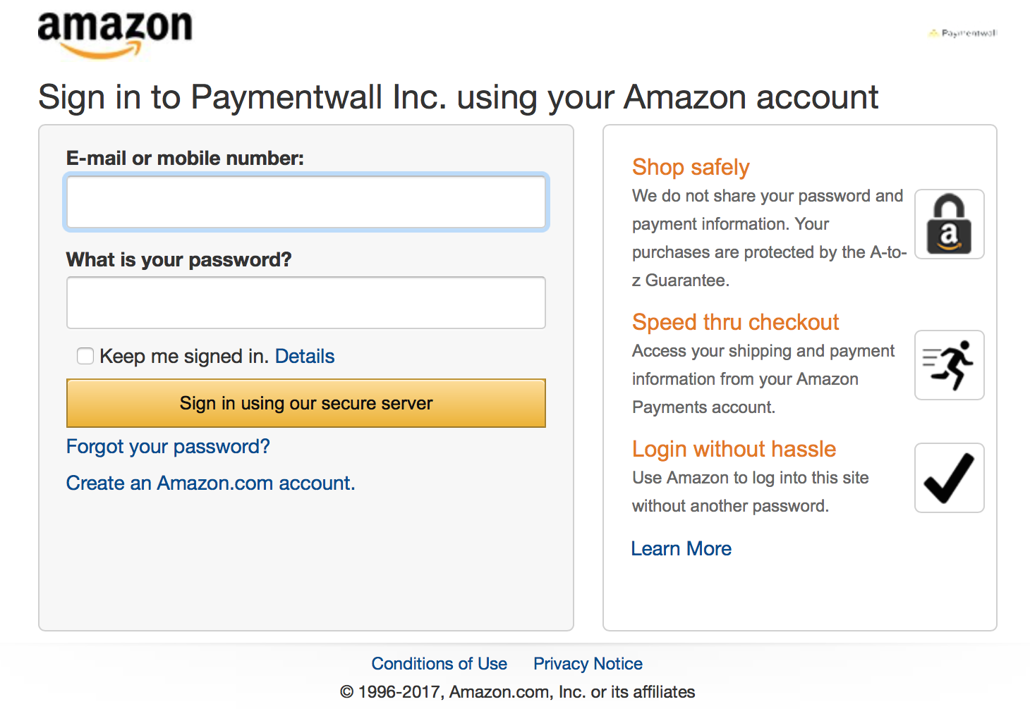 amazon payments with credit card