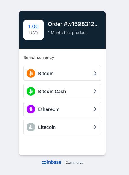 Bitcoin Coinbase select