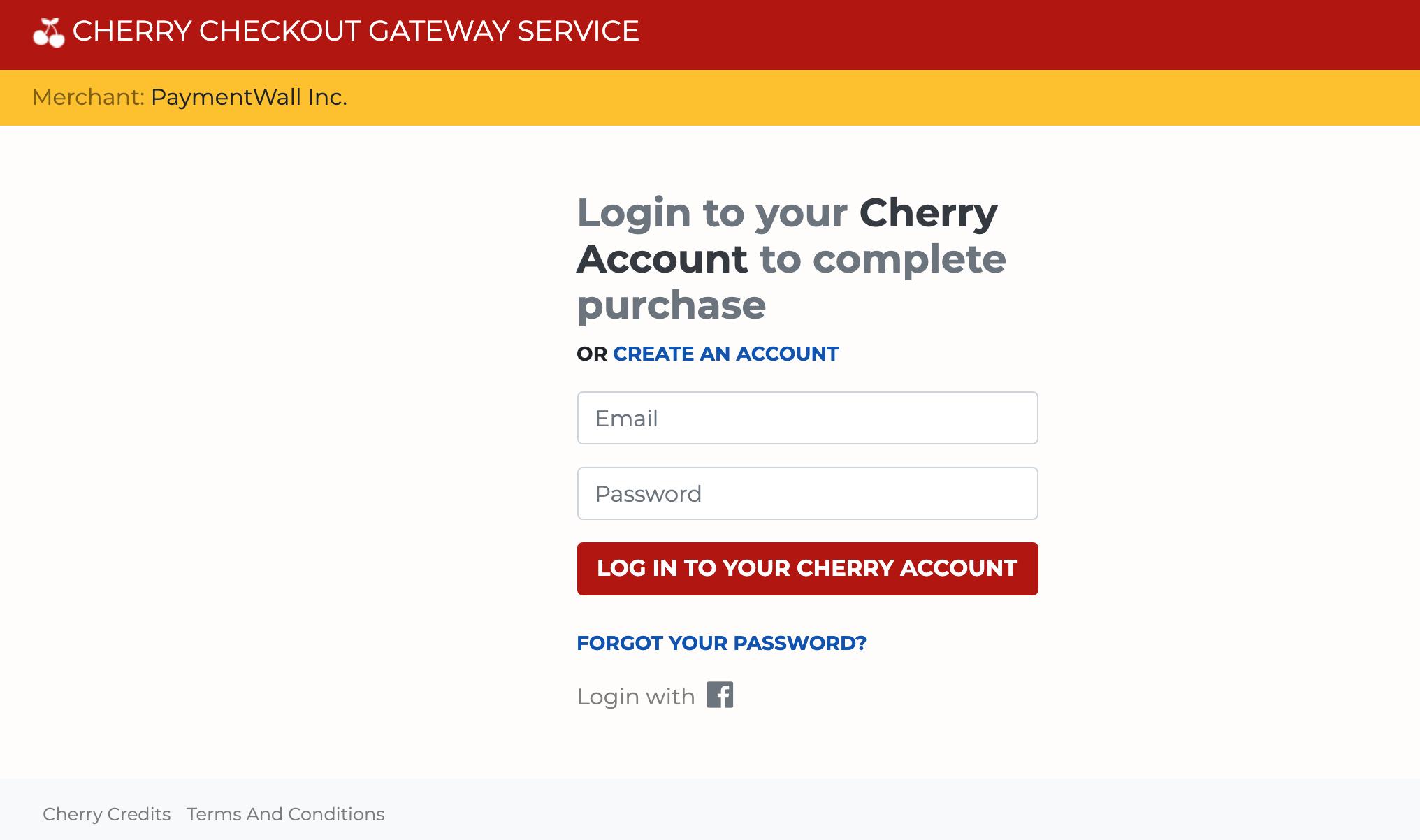 Cherry Credits signin