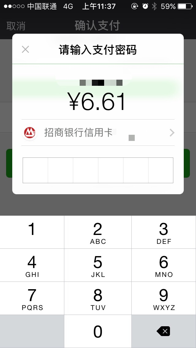 Payment Method Wechat Pay