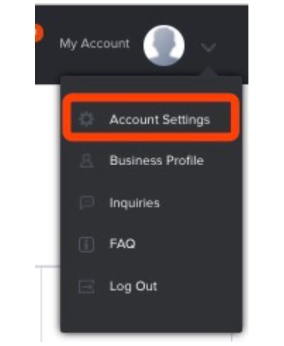 Paymentwall merchant area - account settings